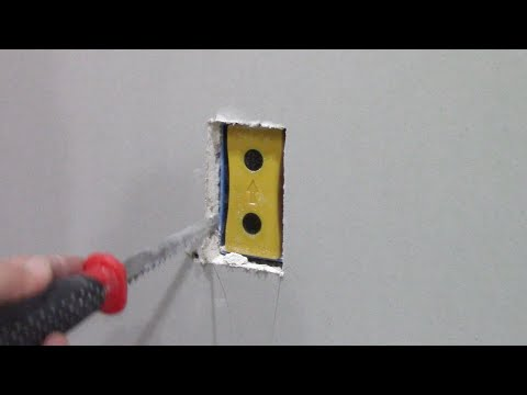 How to cut out drywall electrical outlet boxes with Blind Mark