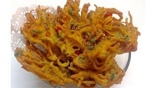 Lachha Pakora - Crispy Lachedaar Pakoray  || Easy Steps- Special Iftar Recipe