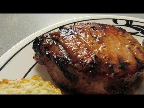 Mrs JB's Grilled Garlic honey Pork chops