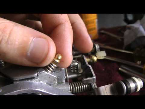 How to adjust air mixture screw jet on yamaha 20hp 25hp 2 stroke outboard motor