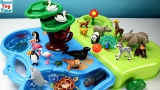 Playmobil 1-2-3 Animals Zoo and Aquarium Playset  Plus Extra Animal Figures