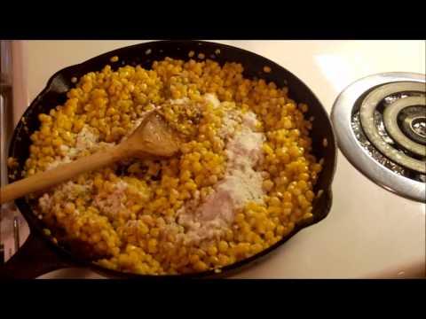Making Pan Fried Corn