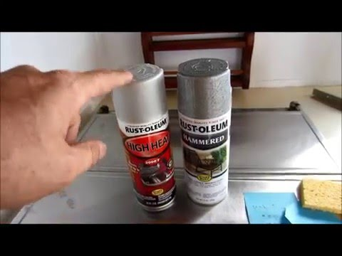 How to Paint your Motor home Stove Range or Vent Hood.