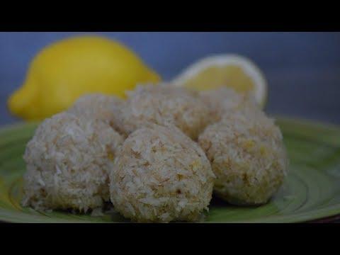 Coconut Lemon Balls |  Healthy Treat