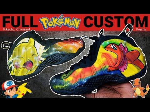 Full Custom | Pokemon Galaxy Foamposite One Painted Shoes by Sierato