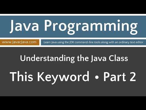 Learn Java Programming - This Keyword Part 2 Tutorial