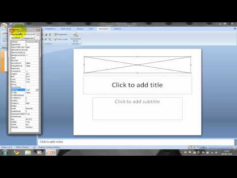 Embeding or inserting a Shockwave Flash Object  file into PowerPoint