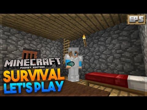 DIAMONDS!!! - MCPE 0.17.0 Survival Let's Play EP.5 - Minecraft PE (Pocket Edition)