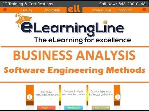 BA tutorials for beginners - Software Engineering Methods by ELearningLine @848-200-0448