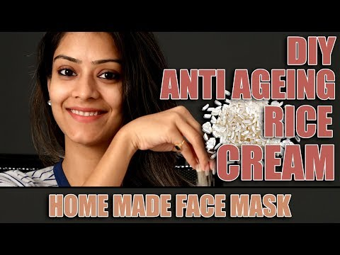 DIY |  Anti Ageing Face Mask | Rice Face Cream | Homemade Face Mask | Get Rid Of Wrinkles | Foxy