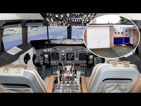 Pilot Has Flight Simulator Installed In Garage