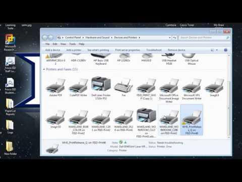 Set a Default Printer on Windows 7
