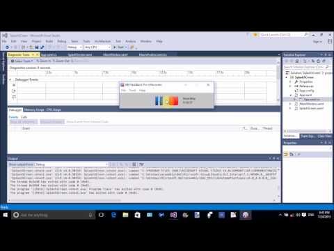 How to create splash screen in wpf