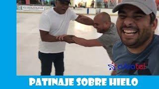 Primera vez patinando en el hielo