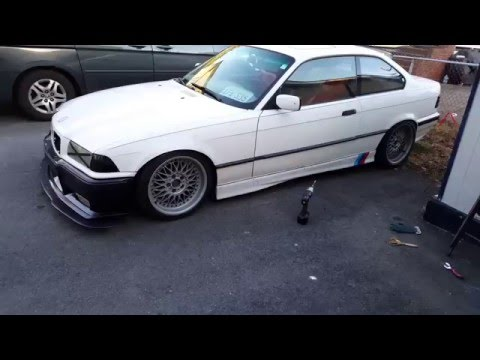 Crazy Ricer insanely loud, low and slow E36 Build part... idk like 8 (how to install m3 side skirts)