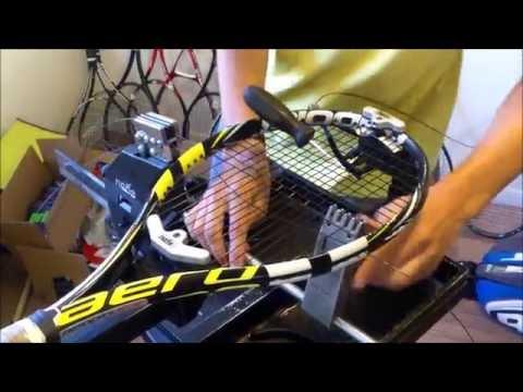 Stringing a Babolat Aero Pro Drive Tennis Racquet