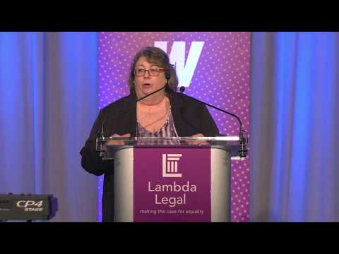Lambda Legal Client Kim Hively at the 2018 National Liberty Awards