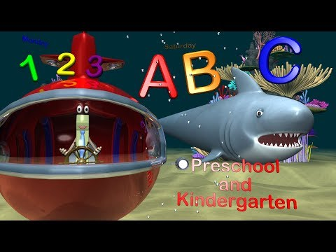 Preschool & Kindergarten Learning Collection - Alphabet, Counting, Shapes, Colors, Days & Months
