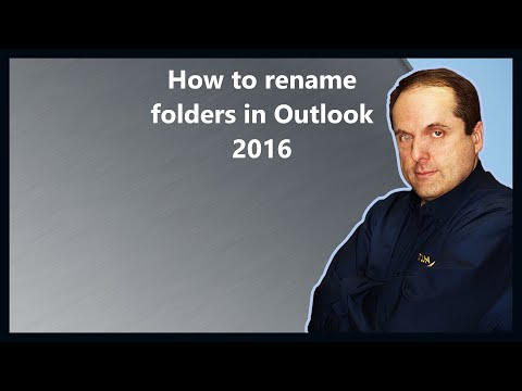 How to rename folders in Outlook 2016