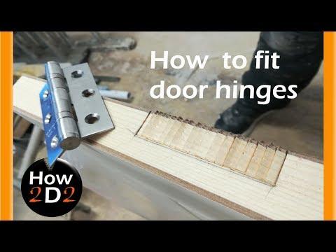 Door hinges installation  How to fit door hinges how to hang a door