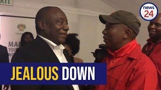 WATCH: 'Jealous down' - Cyril Ramaphosa and Julius Malema share light moment at parliament