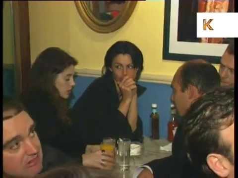 Mid 1990s Harrys Bar, London, Soho Late Night Bar, Archive Footage