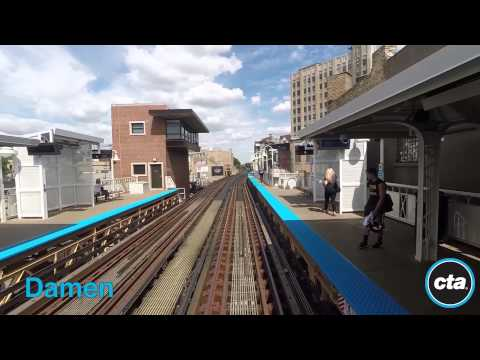 CTA Ride the Rails: Blue Line to O'Hare in Real Time (2015)