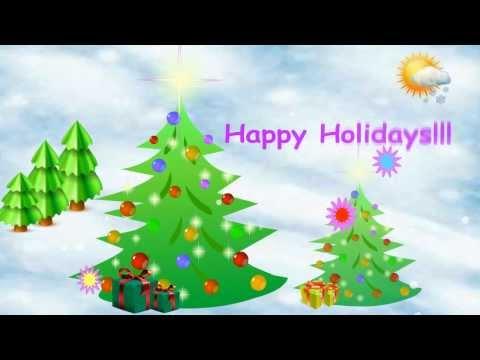 Happy Holidays animated screensaver promo