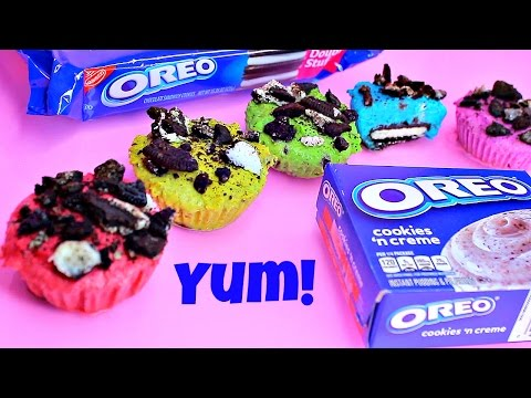 Rainbow Oreo Pudding Dessert Recipe NO BAKE!NO BAKE Oreo Cookies & Cream Cheesecake Cupcakes