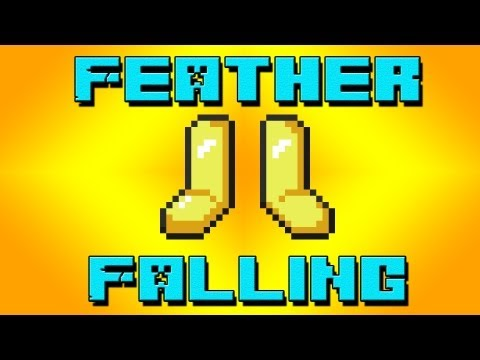 Minecraft - Feather Falling Enchantment Test