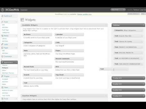 Add Wordpress Text Widget
