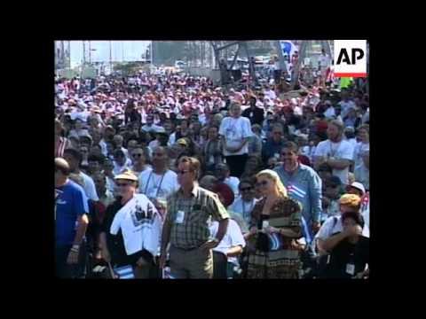 CUBA: RALLY CALLS FOR END OF BLOCKADE