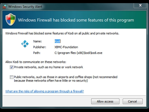 Fix Windows Firewall has blocked some features of this program in windows 7/8/10