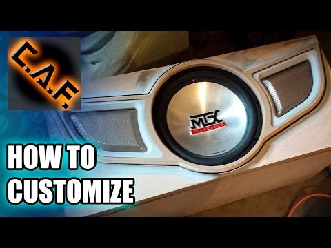 How To Customize a Subwoofer Box - CarAudioFabrication