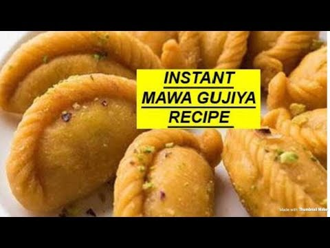 how to make mava/khoya gujiya at home with English subtitles
