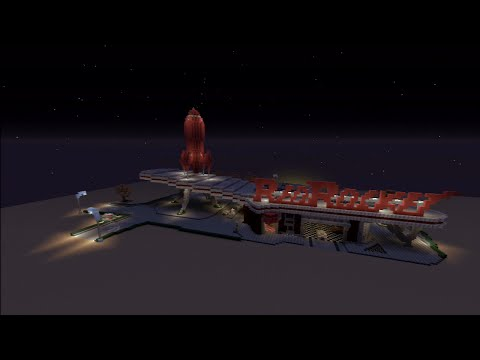 Minecraft PS3 Edition : Build Showcase Ep2 - Red Rocket Station!!!