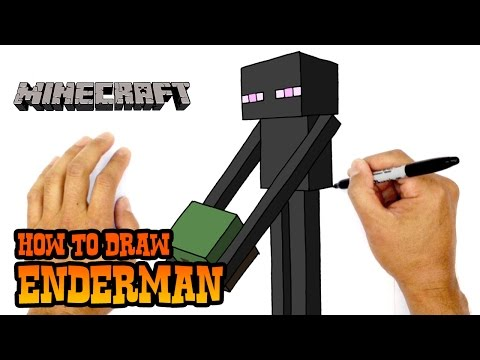 How to Draw Enderman | Minecraft