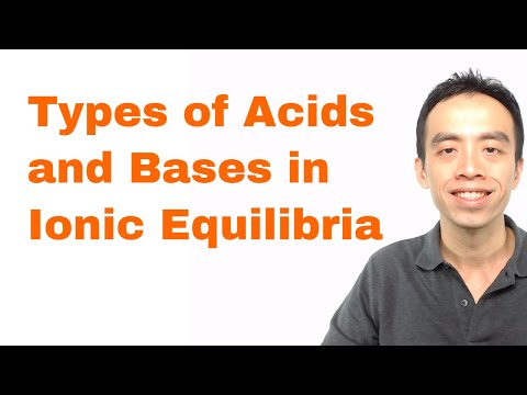 Bronsted Acids and Bases: Types of Acids and Bases in Ionic Equilibria