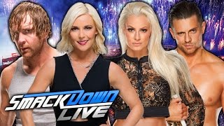 Dean Ambrose & Renee Young vs. Maryse & The Miz - Smackdown Live 2017