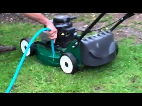 Cleaning your lawn mower