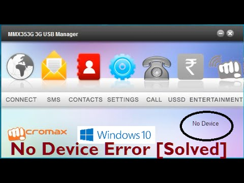 Micromax Modem No Device Error in Windows 10 (Solved)