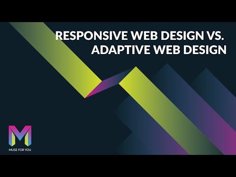 Responsive Web Design vs. Adaptive Web Design   Adobe Muse CC   Muse For You