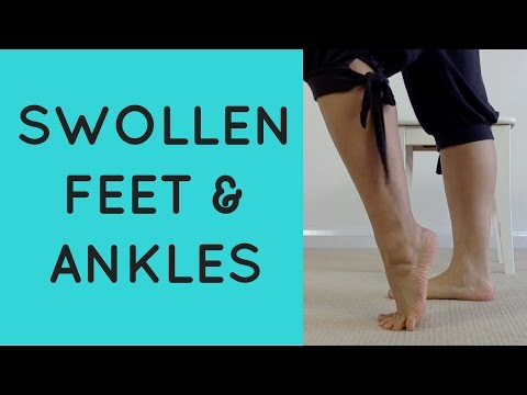 3MIN YOGA PILATES Stretch Exercise To Relieve Swollen Feet & Ankles During Pregnancy