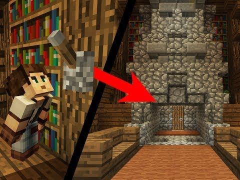 Minecraft - How To Build A Secret Fireplace Entrance!