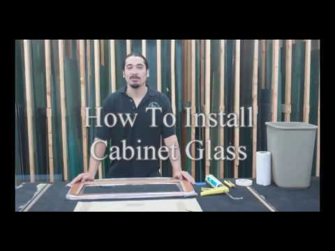 How To Install Cabinet Glass