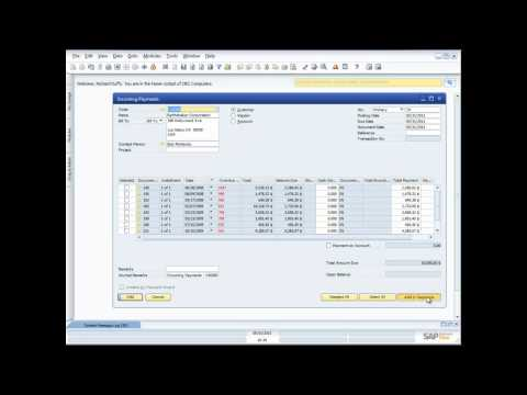 Demonstration of Banking and Cash Functionality in SAP Business One 8.8
