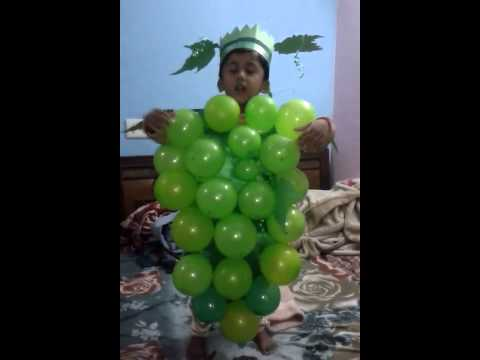 Vedant as grapes in fancy dress competitions MAMS