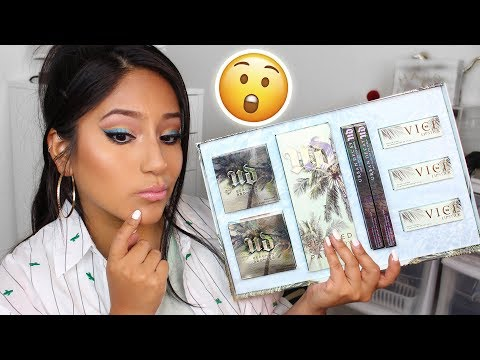NEW Urban Decay BEACHED Collection - REVIEW/SWATCHES/TUTORIAL!