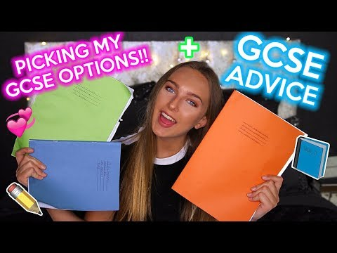CHOOSING MY GCSE OPTIONS AND ADVICE!! Lizzie Mason