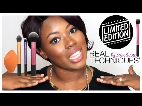 New  Real Techniques Limited Editon Multi-task Brush set +Drug Store Makeup Look
